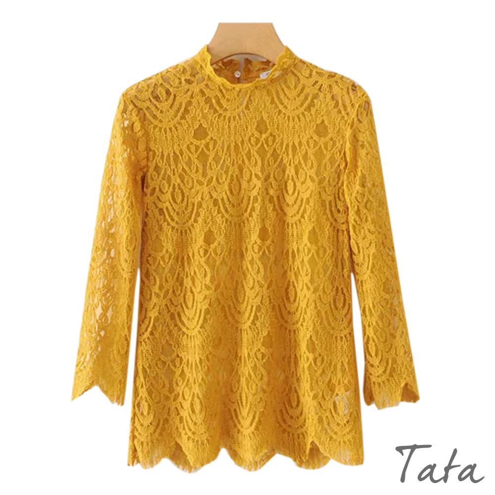 八分袖鏤空蕾絲上衣 共三色 TATA @ Y!購物
