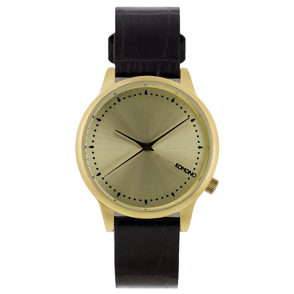 KOMONO Estelle Monte Carlo 腕錶-黑色鱷魚/36mm