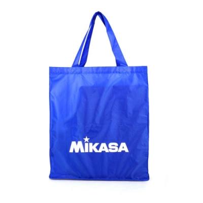 MIKASA 摺疊購物袋-手提袋 肩背袋 可收納 排球 環保袋 MKBA21-BL 藍白