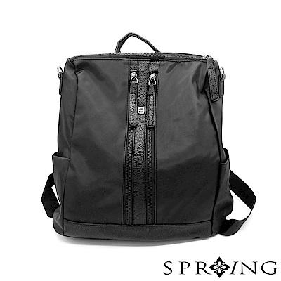 SPRING-閃耀整個城市輕量3用後背包包-魅力黑