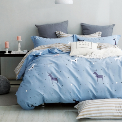 Ania Casa聖牧精靈 雙人三件式 100%精梳棉 台灣製 床包枕套純棉三件組