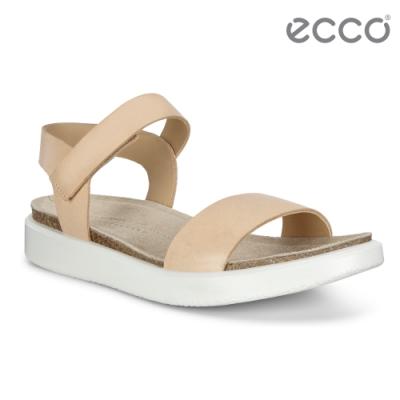 ECCO CORKSPHERE SANDAL W 極簡單色休閒風格涼鞋 女鞋-裸色