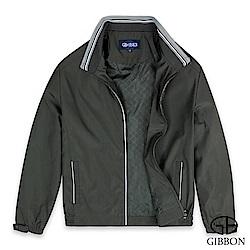 GIBBON 羅紋立領精品防風外套-二色