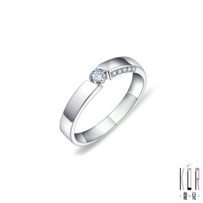 K'OR蔻兒 因為愛‧所以愛鑽石/白鋼女戒指
