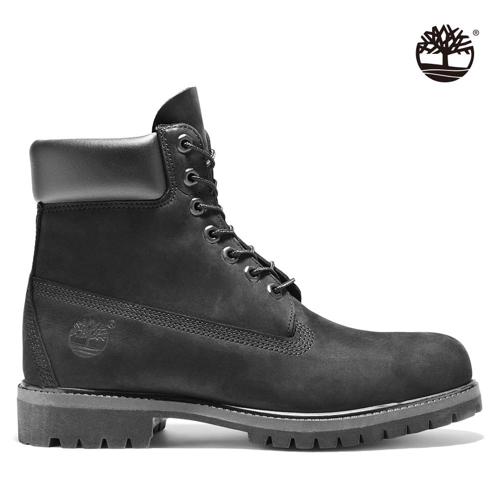 Timberland 男款黑色素面防水六吋靴
