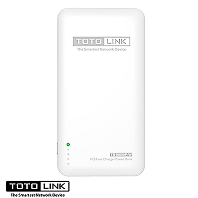 TOTOLINK 10000mAh PD雙快充Type-C雙向行動電源TB10000P-W
