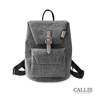 CALLIE 簡約休閒帆布後背包 Annone 灰