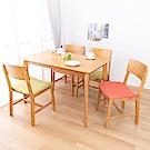 AS-克里斯淺色餐桌椅組-120x75x76cm(一桌四椅)