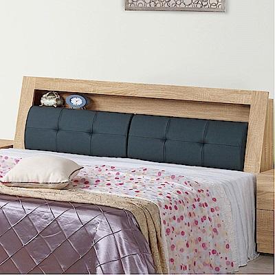 文創集 柏格6尺皮革雙人加大床頭箱(二色+不含床底)-182.5x29x101cm免組