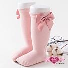 天使霓裳 可愛大蝴蝶結 兒童中筒襪 2雙入(粉S~L)