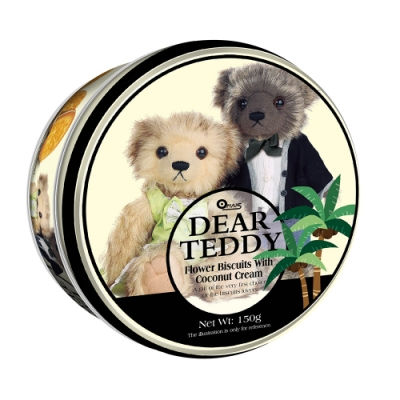 DEAR TEDDY親愛的泰迪 椰子味夾心餅乾(150g)