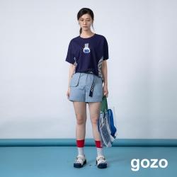 gozo 造型口袋素面休閒短褲(二色)