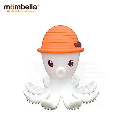 【任選】英國《mombella 》樂咬咬章魚固齒器(橘色)
