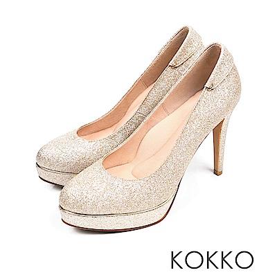 KOKKO - 女王的盛宴炫燦手工超高跟鞋-典藏金