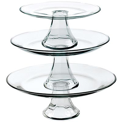 《FOXRUN》Anchor 層式玻璃點心盤3件組