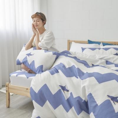 BUHO 天然嚴選純棉雙人舖棉兩用被套-6x7尺(北鼻鯊嘟嘟)