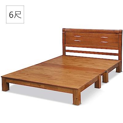凱曼 亞瑪6尺床片型加大雙人床-2件式(床頭片+實木床底) @ Y!購物