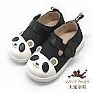 天使童鞋 可愛熊貓休閒鞋(中童)i8036-黑