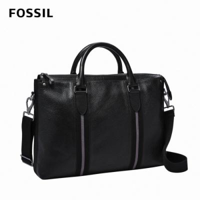 FOSSIL 母親節優惠 Houston 商務型兩用公事包(可入13吋筆電)-黑色 MBG9540001