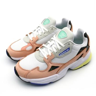 ADIDAS FALCON W 女 白橘 休閒鞋