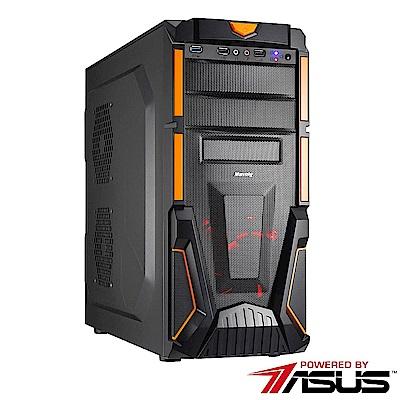 華碩B450平台[豔陽風神]R5六核GT710獨顯SSD電玩機