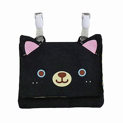 動物樂園可掛飾收納包。小黑貓  UNIQUE