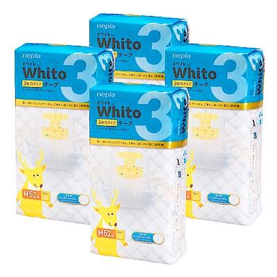 Nepia Whito王子白色系列黏貼紙尿褲 日本境內三小時版 M 52片x4包/箱