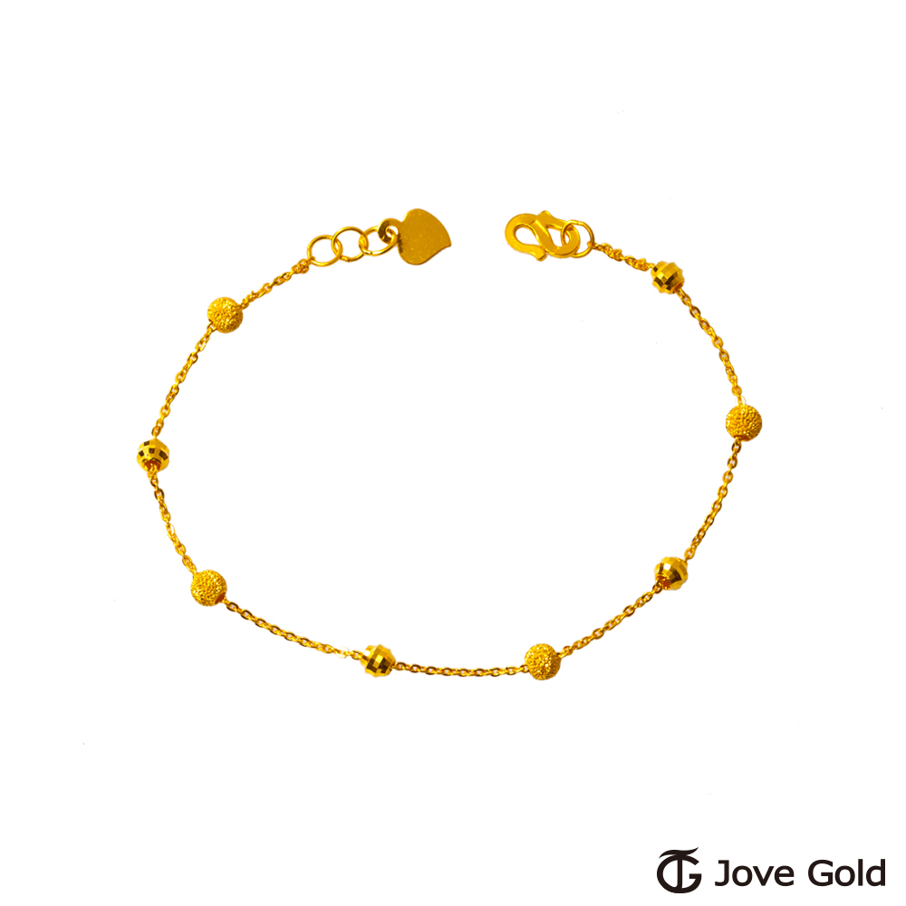 JoveGold漾金飾 可圈可點黃金手鍊