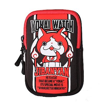 毛萬用小包。黑邊 吉胖喵 妖怪手錶