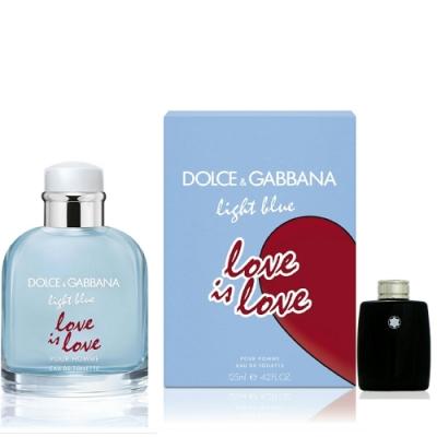 Dolce & Gabbana Love Is Love 淺藍示愛宣言男性淡香水 125ml 隨機搭贈4ml 以上小香水