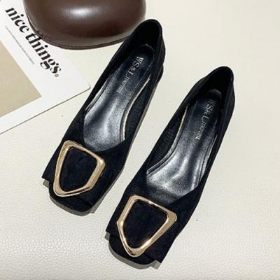 KEITH-WILL時尚鞋館 美型雨後春筍金屬優雅方頭鞋-黑