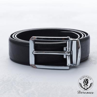 BARONECE 百諾禮士 紳士高品質皮革皮帶_黑(519007)