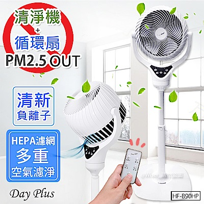 Day Plus HEPA級DC空氣清淨機+循環扇(HF-B90HP)淨化PM2.5