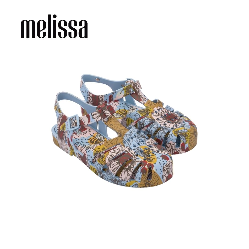 Melissa POSSESSION滿版印花漁夫鞋-粉藍