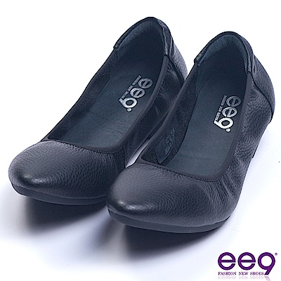 ee9 芯滿益足經典簡約百搭素面娃娃鞋 黑色