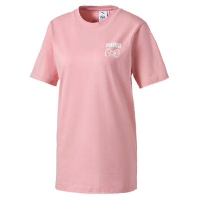 PUMA-女性流行系列Hello Kitty短袖T恤-銀光粉-歐規