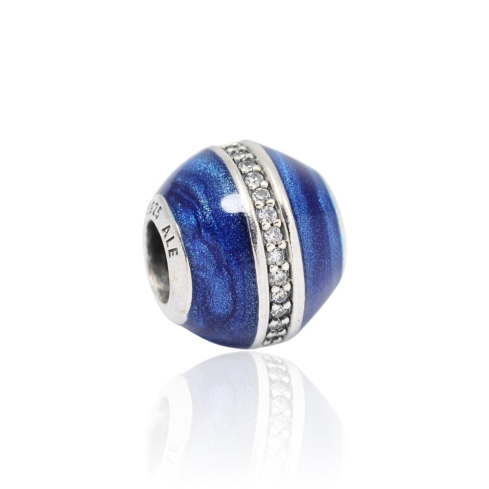 Pandora 潘朵拉 魅力午夜星軌琺瑯鑲鋯 純銀墜飾 串珠