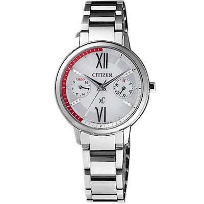 CITIZEN  xC 魅力奇蹟光動能時尚腕錶(FD1010-53A)-銀/30mm
