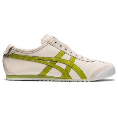 Onitsuka Tiger鬼塚虎- MEXICO 66 SLIP-ON 休閒鞋 1183A360-207 米底綠色邊