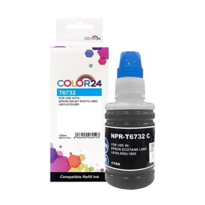 Color24 for Epson T673200/100ml 藍色相容連供墨水