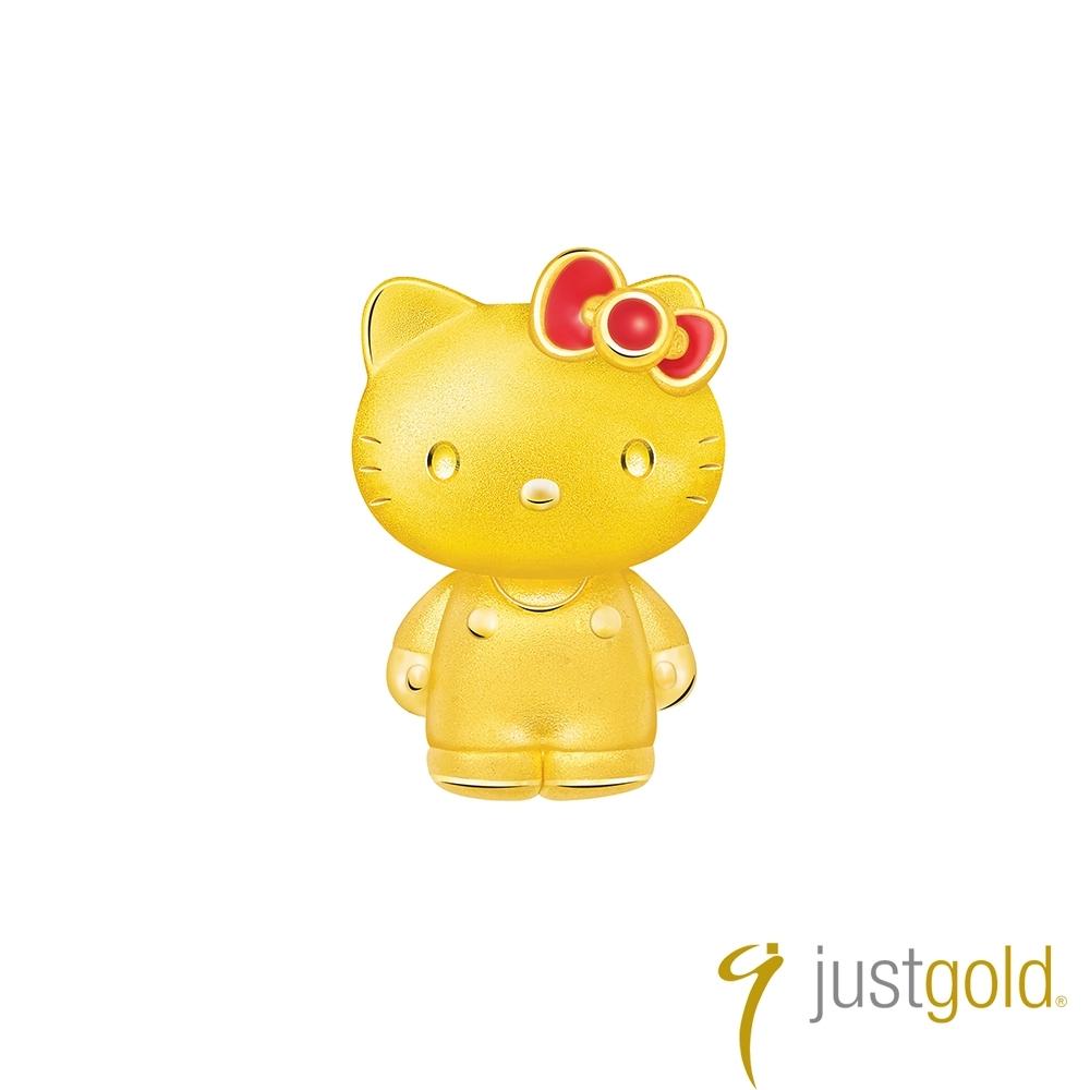鎮金店Just Gold Lovely Memories純金系列 黃金單耳耳環-kitty