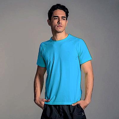 GFun 男款吸濕排汗涼感T恤-土耳其藍(G7URSM1-BLUE)