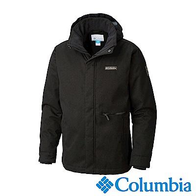 Columbia哥倫比亞 男款-Omni-Tech防水連帽外套UWE12430BK