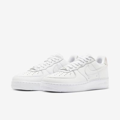 Nike 休閒鞋 Air Force 1 07 運動 男鞋 經典款 AF1 皮革 質感 簡約 穿搭 白 灰 CN2873101