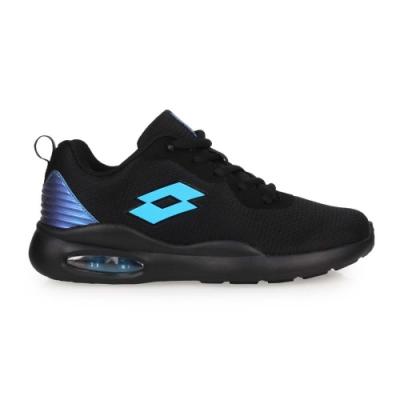 LOTTO 男大童輕氣墊跑鞋-避震 反光 輕量 慢跑 運動 LT0AKR2120 黑藍