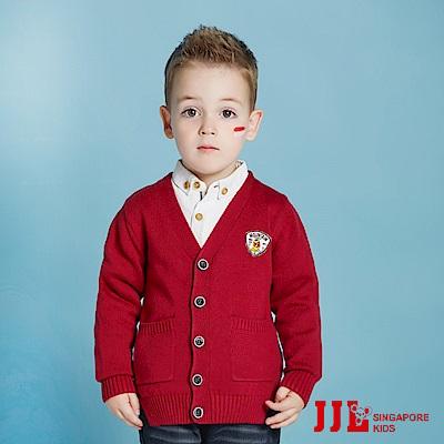 JJLKIDS 歐洲紳士條紋針織外套(狀元紅)
