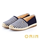 ORIN 引出度假氣氛 表面特殊條紋布休閒便鞋-藍色 product thumbnail 1