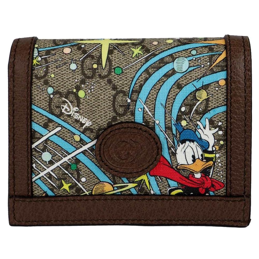 GUCCI Disney 唐老鴨 防水帆布名片式短夾