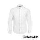 Timberland 男款緊身彈性府綢長袖襯衫 A213B