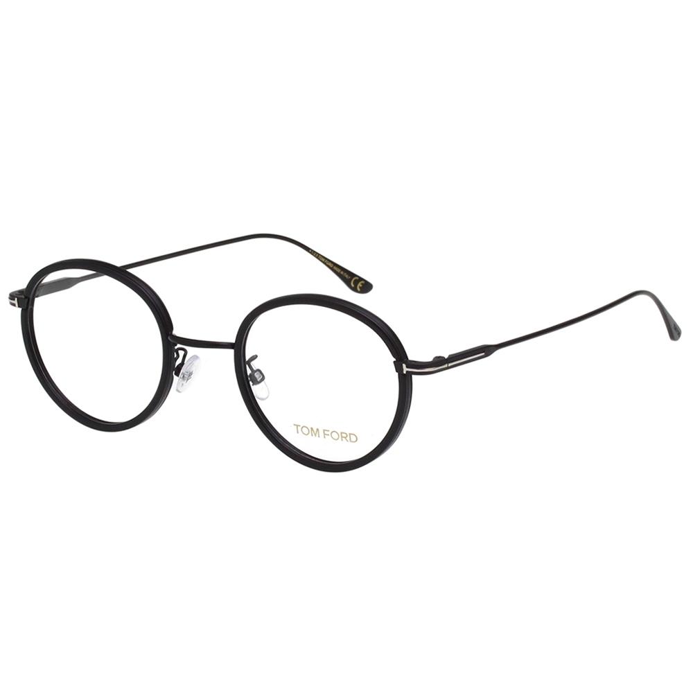 TOM FORD 復古 光學眼鏡(黑配槍色)TF5521K